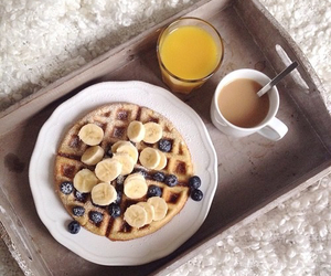 drink, banana, and berries image