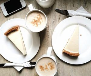 cheesecake, coffee, and food image