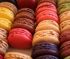 food, macarons, and macaron image