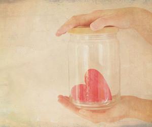 heart, jar, and jar of hearts image