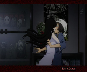 amor, beso, and zombi image