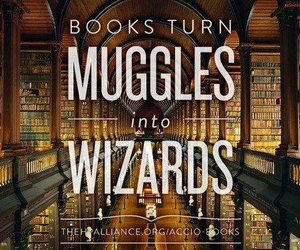 book, wizard, and harry potter image