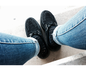 black, guess, and shoes image