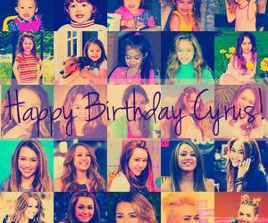 happy birthday and miley cyrus image
