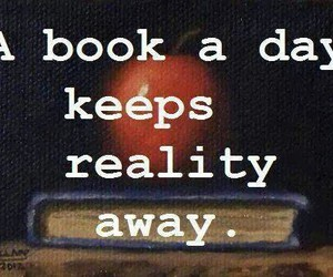 away, book, and day image