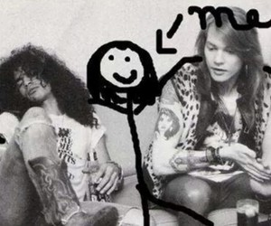 axl rose, black and white, and boys image