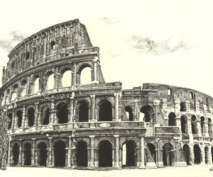 Coliseum and drawing image