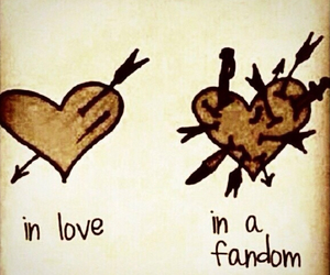 fandom, love, and heart image