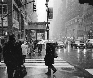 snow, new york, and city image
