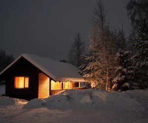 winter and night image