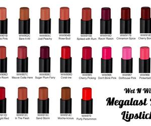 lipstick, makeup, and wet n wild image