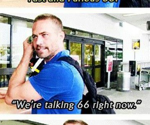 paul walker, fast and furious, and love image