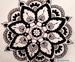 drawing, pattern, and petals image