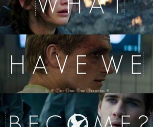 mockingjay, hunger games, and peeta image