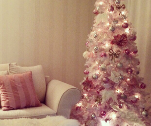 christmas tree, decorations, and girly image
