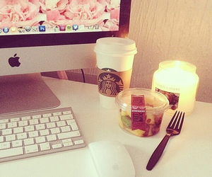 starbucks, apple, and candle image