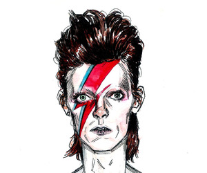 art, david bowie, and drawing image