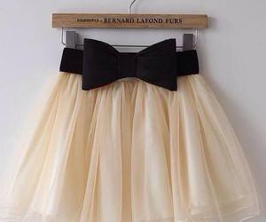 skirt, white, and black image