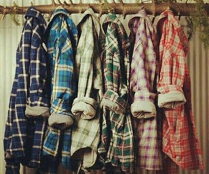 plaid and love image
