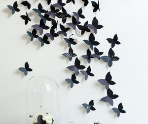 butterfly, black, and black and white image