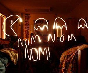 light, pacman, and Pac Man image