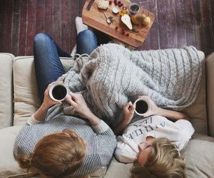 coffee, couple, and friends image