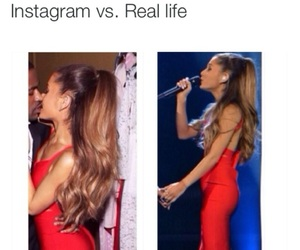 ariana grande, instagram, and red image