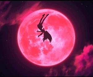 anime, anime moon, and anime girl image