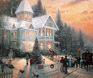 christmas and snow image
