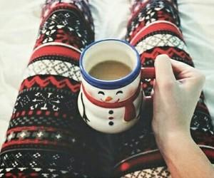 christmas, leggings, and snowman image