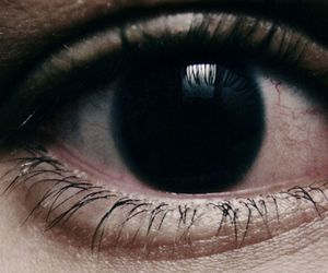 black, eye, and dark image