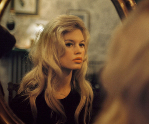 brigitte bardot, mirror, and vintage image