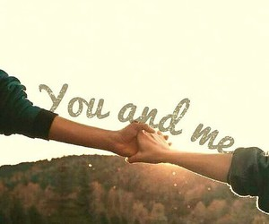 couple, love, and you and me image