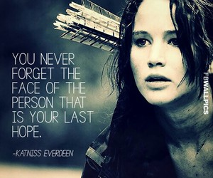 katniss, hope, and hunger games image