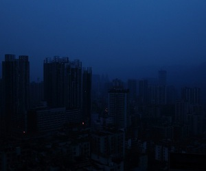 dark, city, and blue image