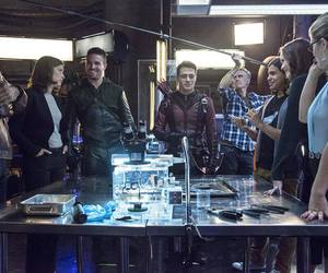 arrow, danielle panabaker, and colton haynes image