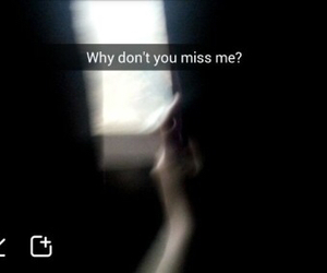 quote, sad, and miss me image