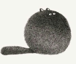 cat, art, and ball image