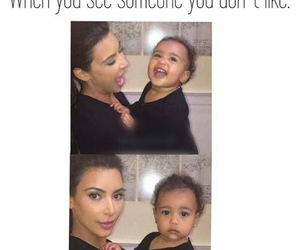 funny, kardashian, and north west image