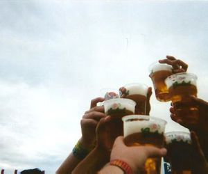 beer, party, and cheers image
