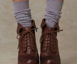 shoes, fashion, and socks image