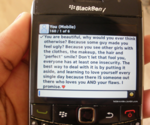 blackberry, phone, and text image