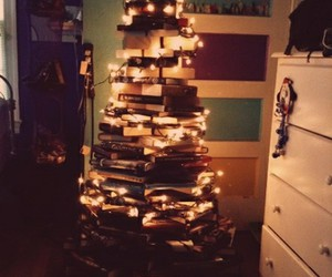 christmas, book, and light image