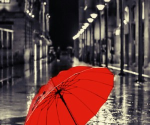 black, red, and street image
