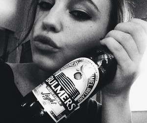 beautiful, beer, and bw image
