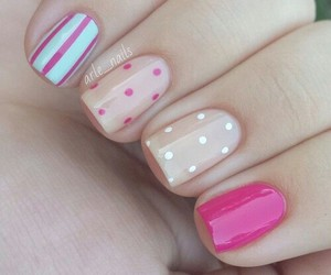nail art, pink, and cute image