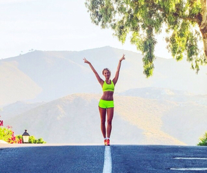 running, workout, and fitspo image
