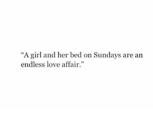 bed, girl, and Sunday image