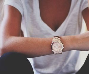 fashion, girl, and watch image