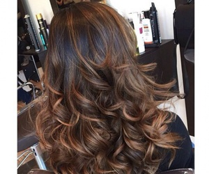 brown, curls, and hair image